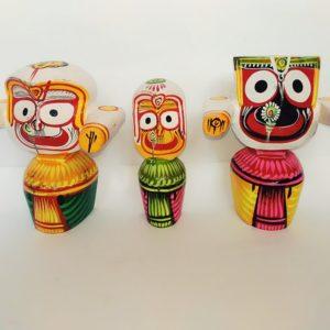 Lord Jagannath Baladeva and Subhadra Original Neem wood